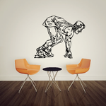 Track And Field Wall Decal - Vinyl Decal - Car Decal - CDS079