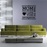 Thank You Mom Typography Decal
