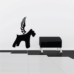 Dog with wings Wall Decal - Vinyl Decal - Car Decal - DC016