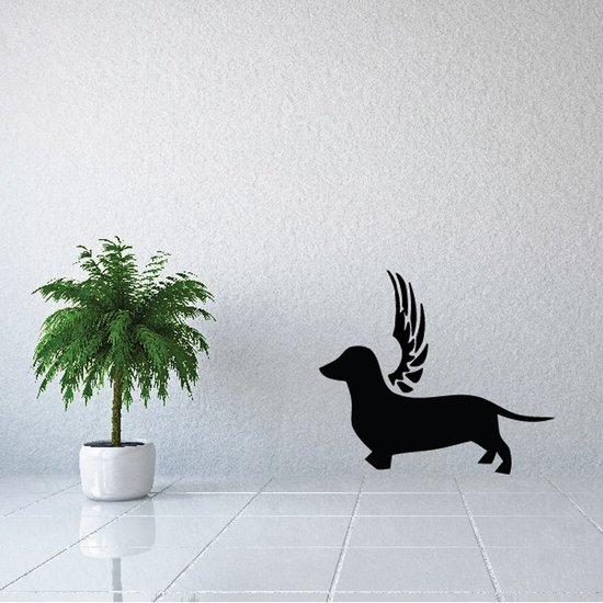 Dog with wings Wall Decal - Vinyl Decal - Car Decal - DC017