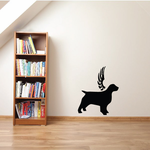 Dog with wings Wall Decal - Vinyl Decal - Car Decal - DC018