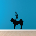 Dog with wings Wall Decal - Vinyl Decal - Car Decal - DC019