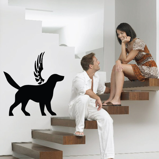 Dog with wings Wall Decal - Vinyl Decal - Car Decal - DC020