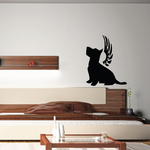 Dog with wings Wall Decal - Vinyl Decal - Car Decal - DC021