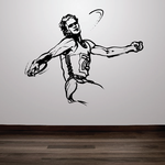 Track and field Wall Decal - Vinyl Decal - Car Decal - Bl023