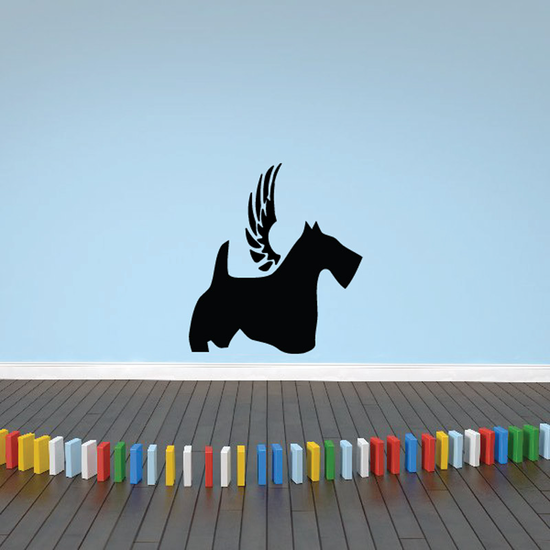 Dog with wings Wall Decal - Vinyl Decal - Car Decal - DC022
