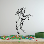 Lifted Head Moose Standing Decal