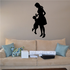 Mom Lifting Child Silhouette Decal