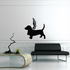 Dog with wings Wall Decal - Vinyl Decal - Car Decal - DC023