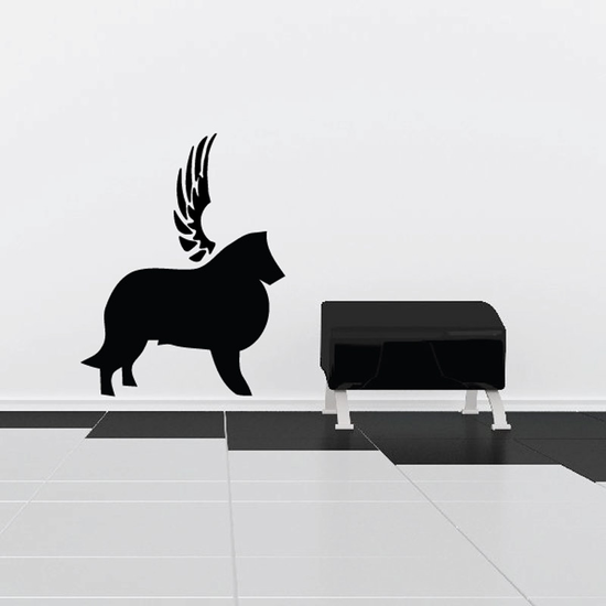 Dog with wings Wall Decal - Vinyl Decal - Car Decal - DC024