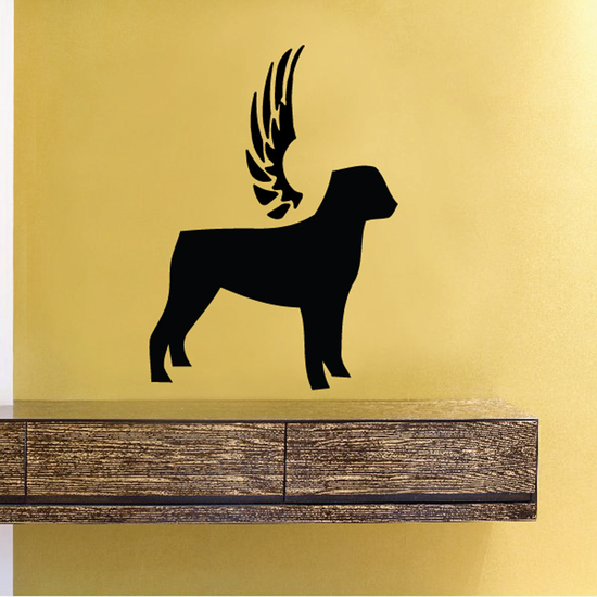 Dog with wings Wall Decal - Vinyl Decal - Car Decal - DC026