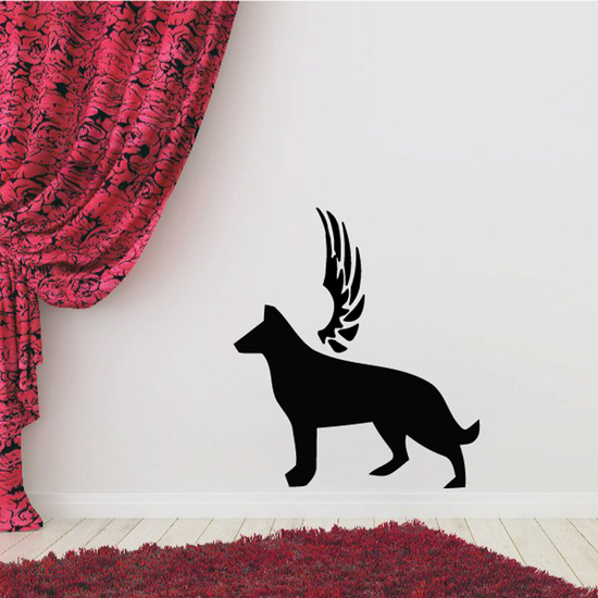 Dog with wings Wall Decal - Vinyl Decal - Car Decal - DC029