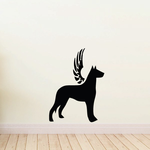 Dog with wings Wall Decal - Vinyl Decal - Car Decal - DC032