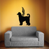 Dog with wings Wall Decal - Vinyl Decal - Car Decal - DC033