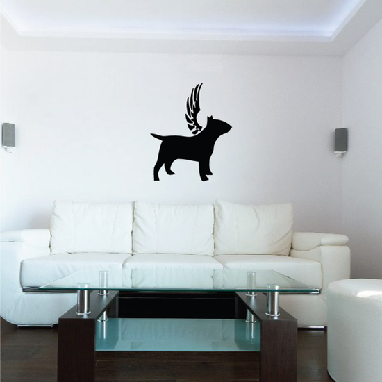 Dog with wings Wall Decal - Vinyl Decal - Car Decal - DC034