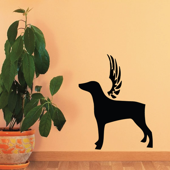 Dog with wings Wall Decal - Vinyl Decal - Car Decal - DC036