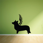Dog with wings Wall Decal - Vinyl Decal - Car Decal - DC037