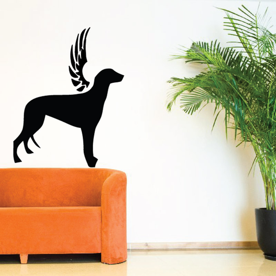 Dog with wings Wall Decal - Vinyl Decal - Car Decal - DC038