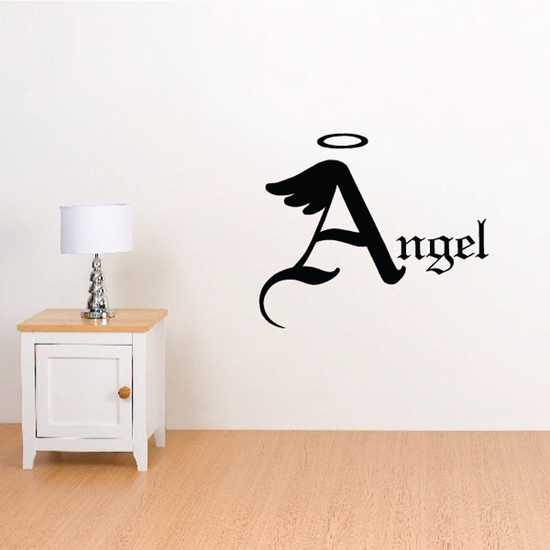 Halo Custom Images Angel Wings Crosses In Memory Banners Wall Decal - Vinyl Decal - Car Decal - DC003