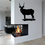 Elk Staring on Grass Decal