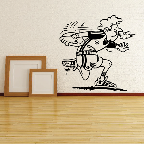 Track and field Wall Decal - Vinyl Decal - Car Decal - Bl025