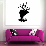 Elk with Great Horns Looking Out Decal