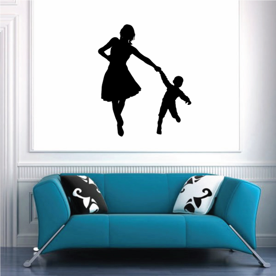 Mom Plays with Child Decal