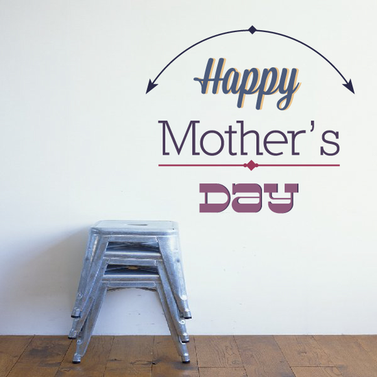 Arrow Arc Happy Mothers Day Decal