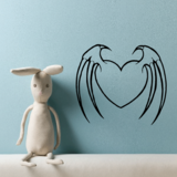 Winged Heart Decals
