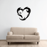 Tribal Heart Decals