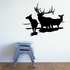 Elk Family Bull Cow and Fawn Decal