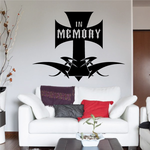 In memory Of Tribal Cross Wall Decal - Vinyl Decal - Car Decal - DC003