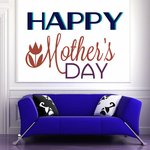 Happy Mothers Day Flower Motif Decal