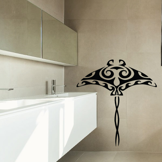 Tribal Stingray Decal