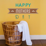 Happy Mothers Day Typography Decal