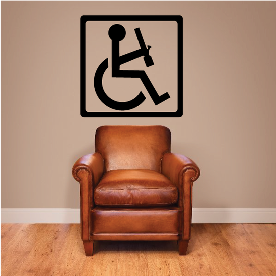 Handicap Sign With Bong Decal