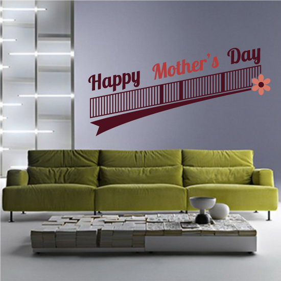 Ascending Bar Happy Mothers Day Decal