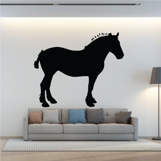 Suffolk Punch Horse Decal