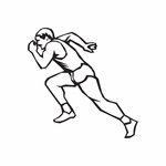 Track And Field Wall Decal - Vinyl Decal - Car Decal - DC 005