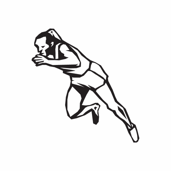 Track And Field Wall Decal - Vinyl Decal - Car Decal - DC 009