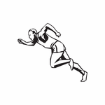 Track And Field Wall Decal - Vinyl Decal - Car Decal - DC 014