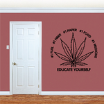Marijuana Leaf Educate yourself Decal