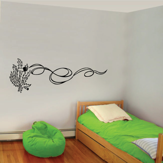 Pot Leaf Smoking a Joint Decal