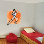 Track and Field Wall Decal - Vinyl Sticker - Car Sticker - Die Cut Sticker - SMcolor001