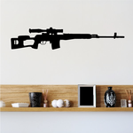 Open Stock Sniper Rifle Decal
