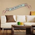 Floral Leaf Accent Happy Mother's Day Decal
