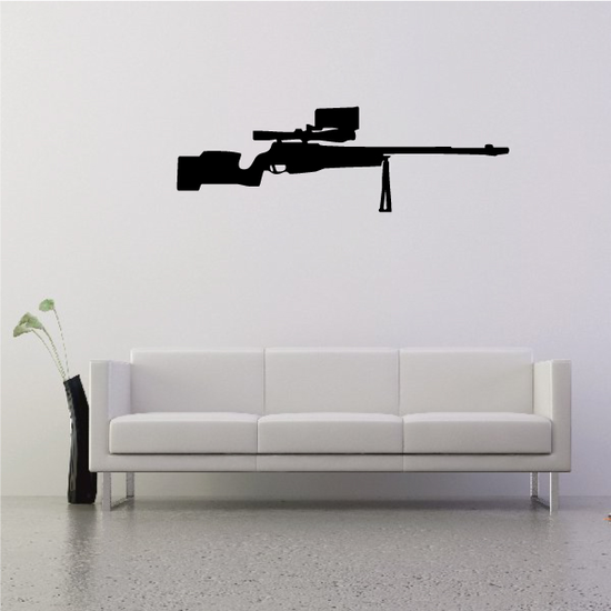 Sniper Rifle with Bipod Decal