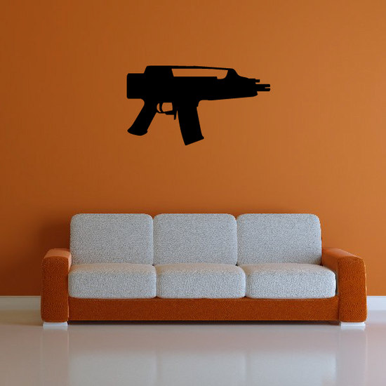 Submachine Gun Wall Decal