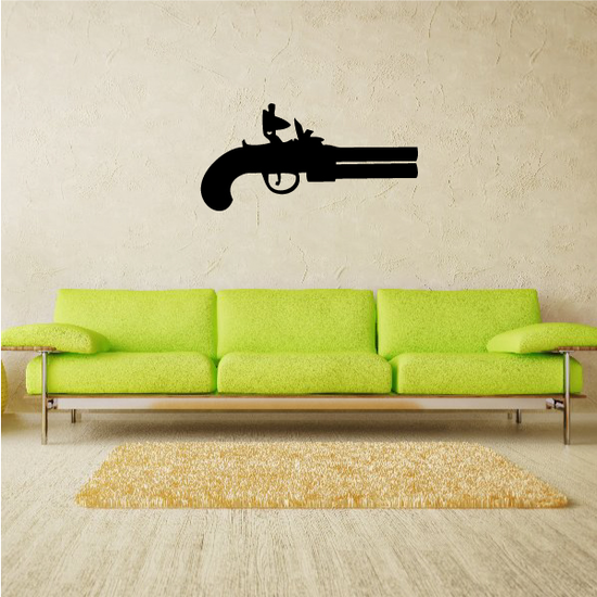 Flint-lock Pistol Decal