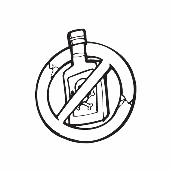 Just say no to Booze Decal